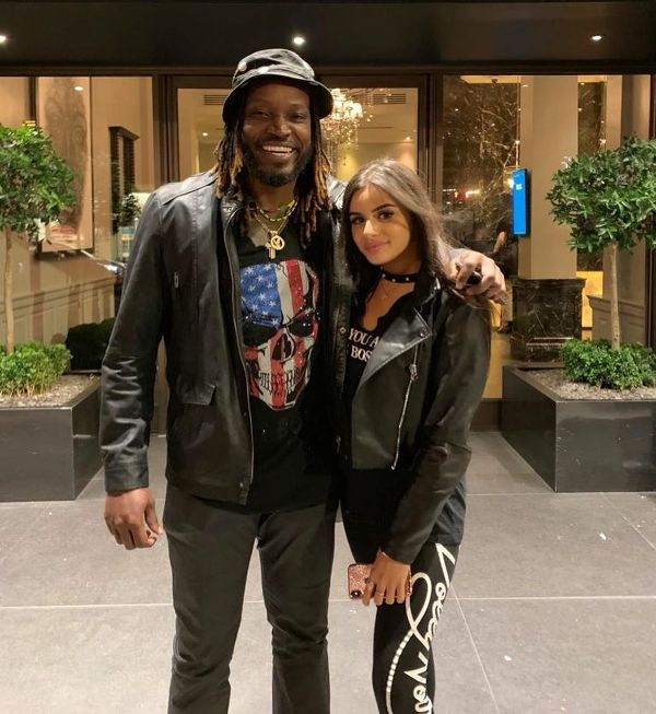 Celina Sharma with Chris Gayle