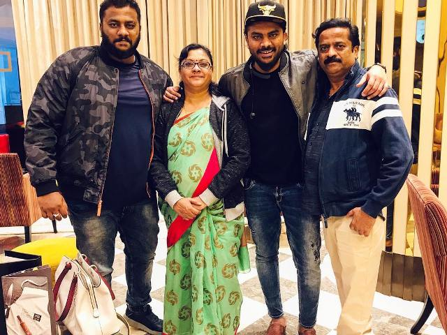 Chandan Shetty with his family