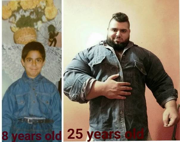 Childhood and Present photos of Sajad Gharibi