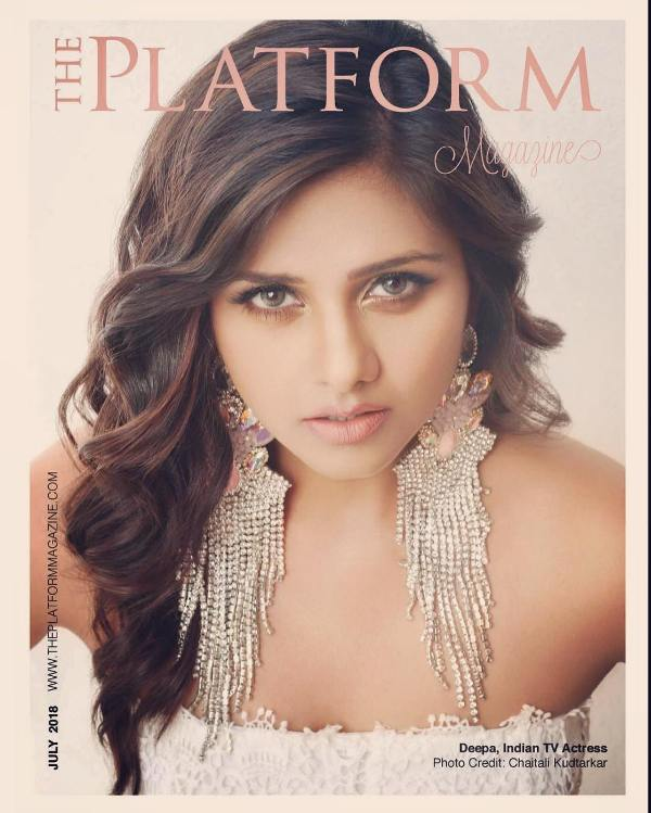 Dalljiet Kaur on the cover of The Platform magazine