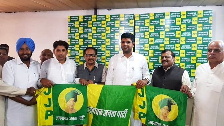 Dushyant Chautala at the launch of the JJP