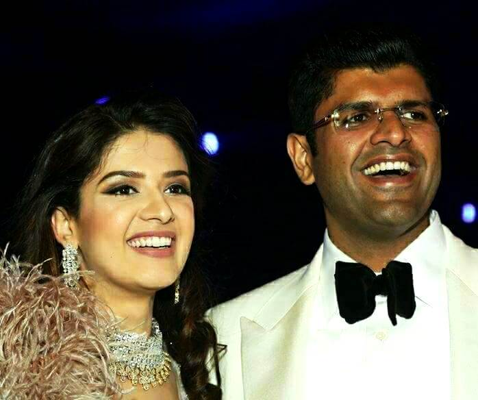 Dushyant Chautala with his wife Meghna Chautala
