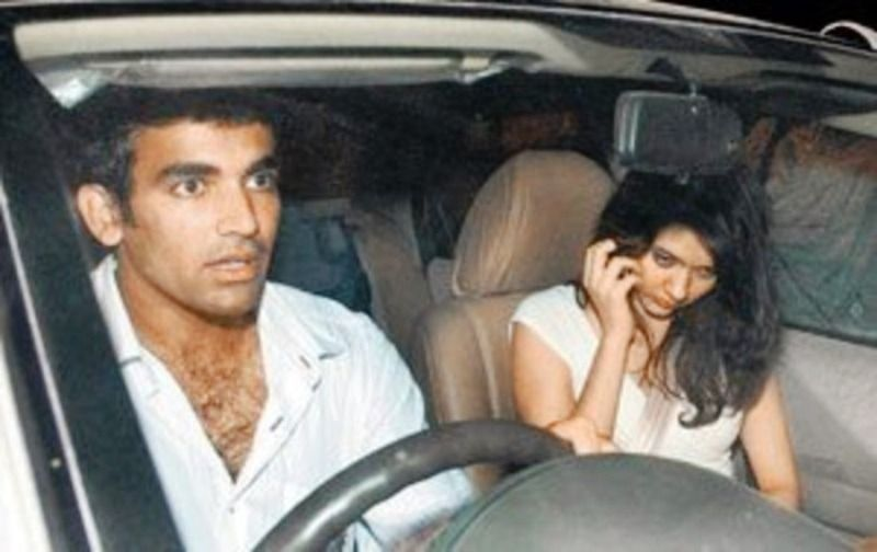 Isha Sharvani with Zaheer Khan