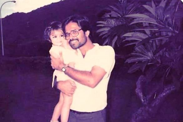 Manasi Joshi with Her Father