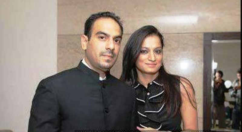 Navin Mehra with His Wife