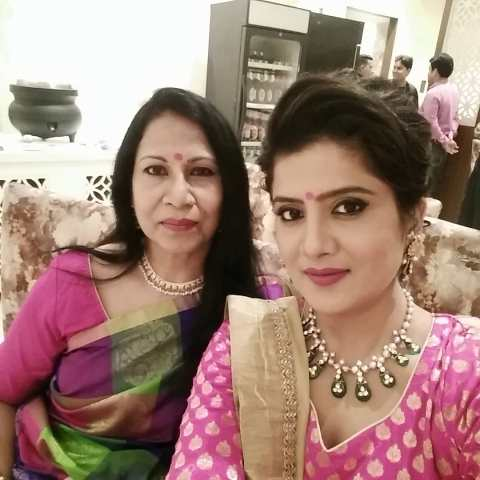 Neha Batham with her mother