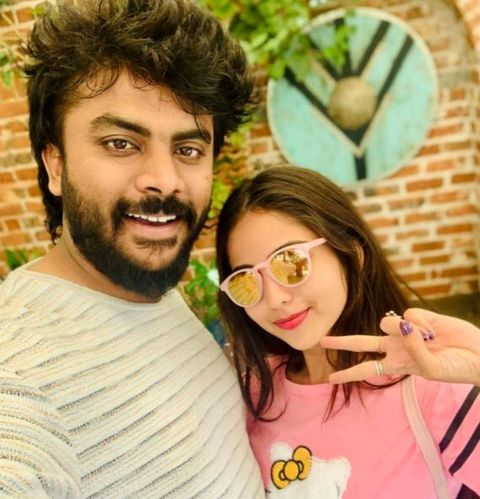 Niveditha Gowda with Chandan Shetty