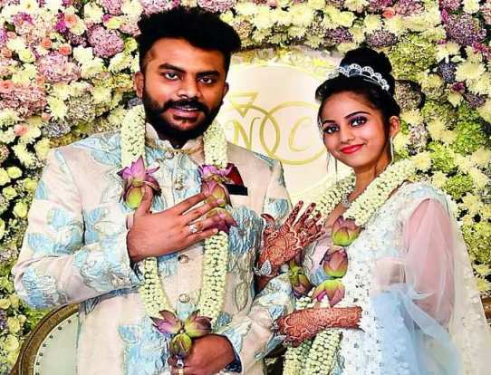 Niveditha Gowda's engagement picture