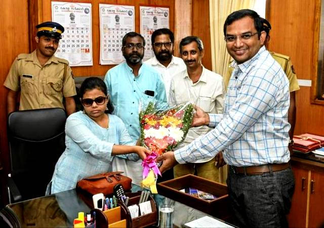 Pranjal Patil on her first day as Sub Collector