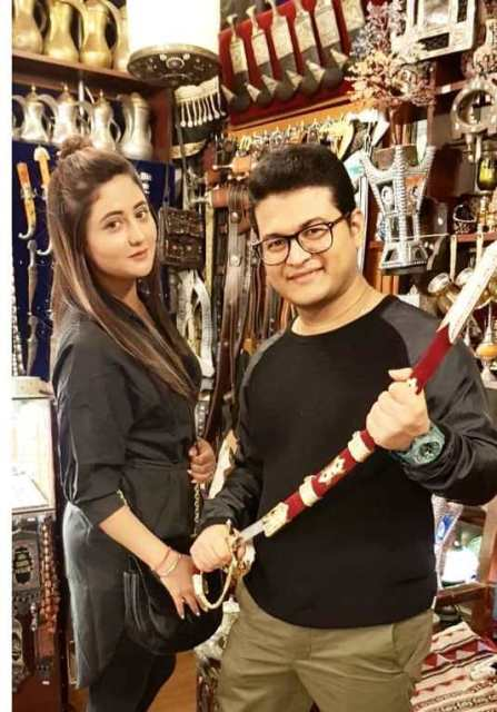 Rashami Desai with her brother