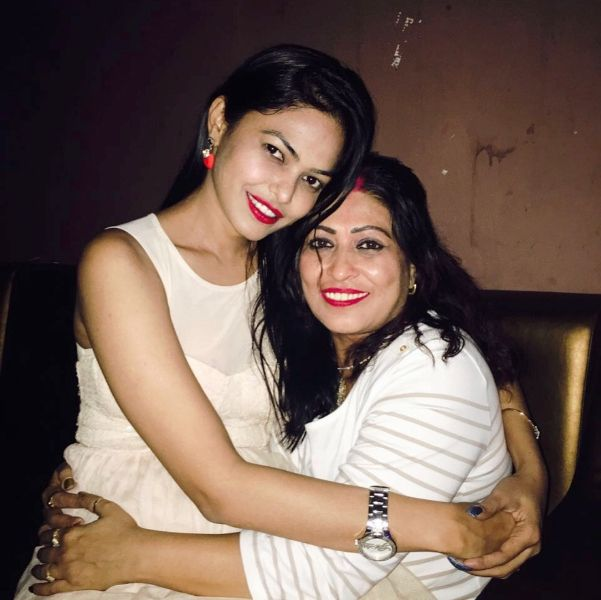 Rashmi Jha with Her Mother