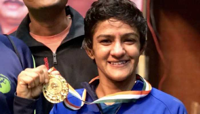 Ritu Phogat with Gold Medal