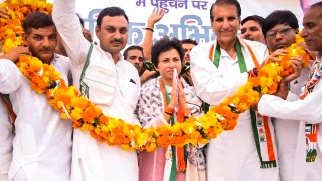 Selja Kumari after being appointed as the President of the Haryana PCC