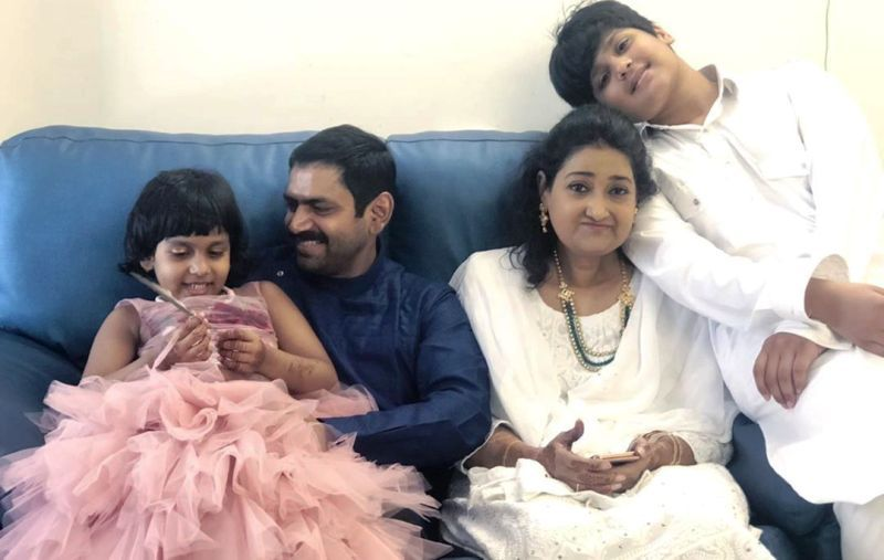 Sharib Ali Hashmi with His Family