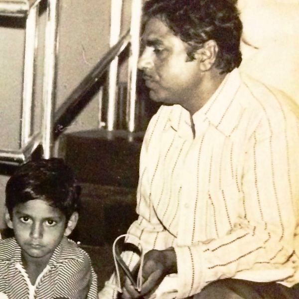 Sharib Ali Hashmi with His Father