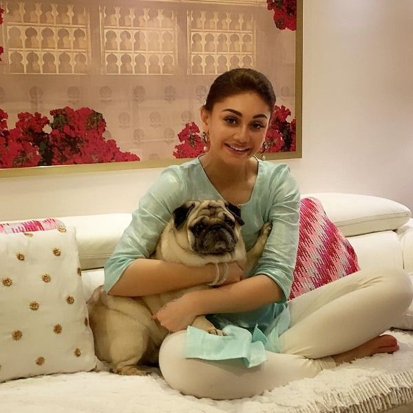 Shefali Jariwala with Her Pug