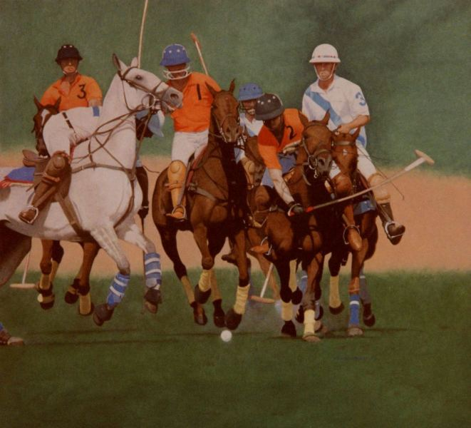 Shikhar Pahariya playing with his Royal Jaipur Polo Team