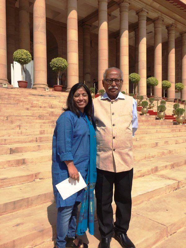 Sunitha Krishnan with Her Father