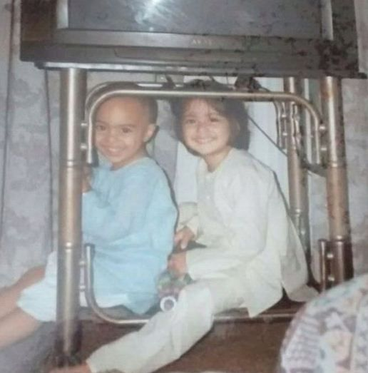 Tanya Maniktala with Her Brother