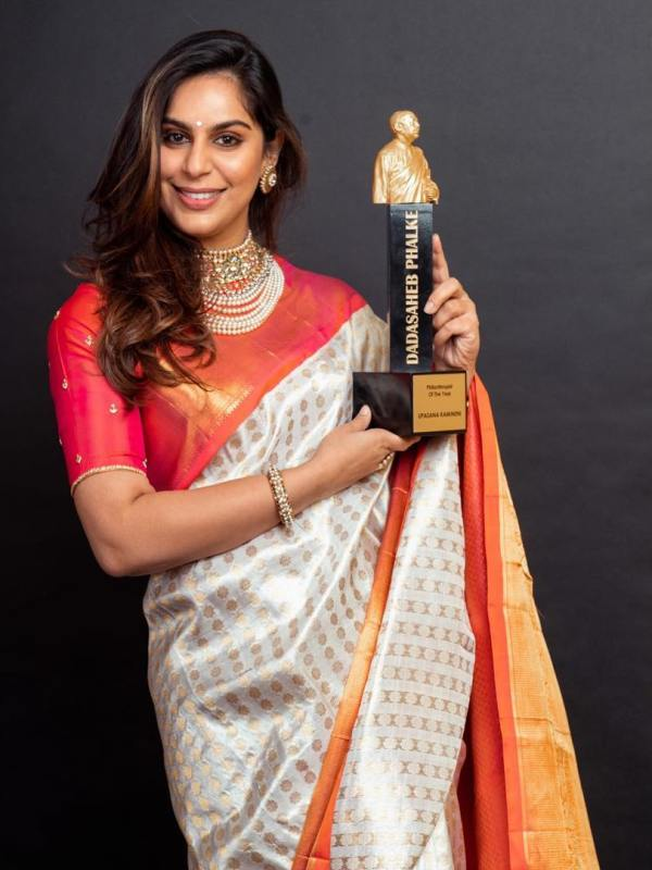 Upasana Kamineni with her Dadasaheb Phalke – Philanthropist Of The Year award