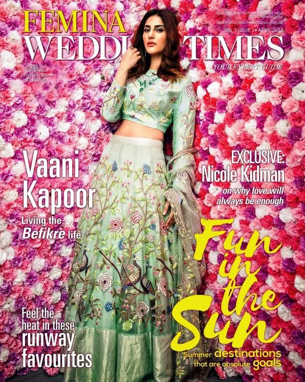 Vaani Kapoor on the Cover of Femina Wedding Times