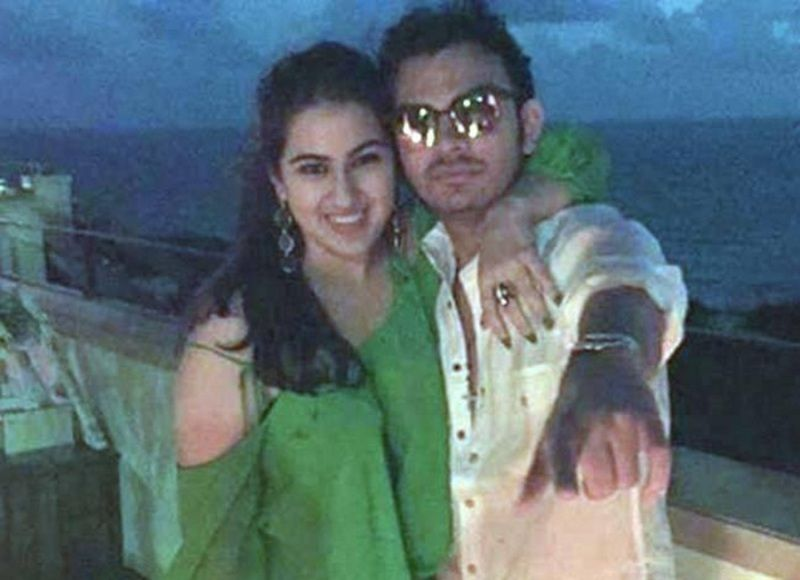 Veer Pahariya with Sara Ali Khan