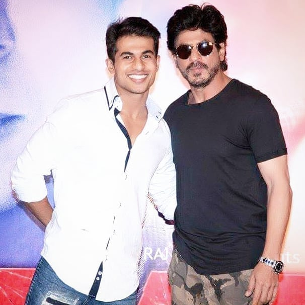 Aadil Khan with Shah Rukh Khan
