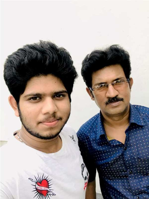 Adriz Ghosh with His Father