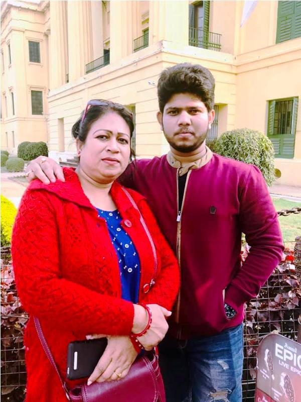Adriz Ghosh with His Mother