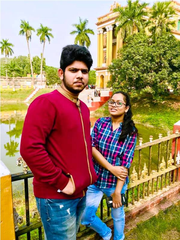 Adriz Ghosh with His Sister