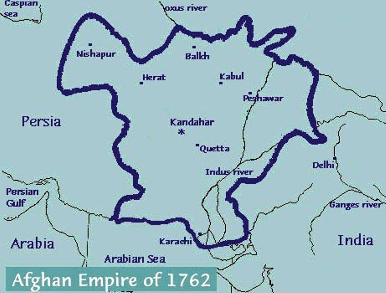 Afghan Empire of 1762