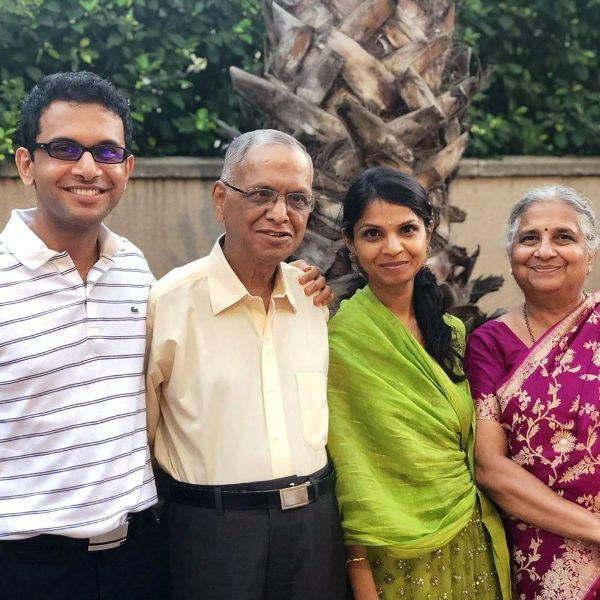Akshata Murty with Her Parents and Brother