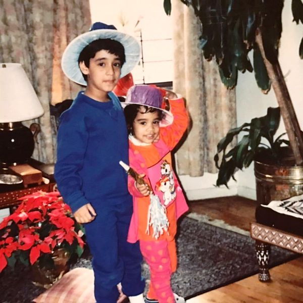 An Old Picture of Devika with Her Brother