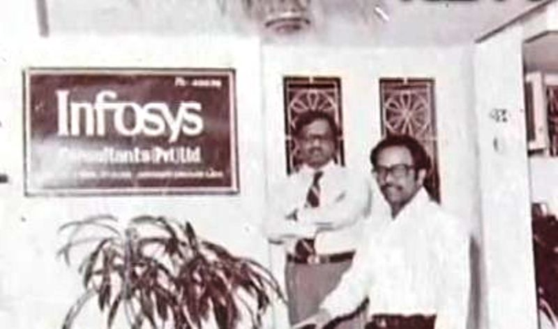 An Old Picture of N. R. Narayana Murthy at Infosys