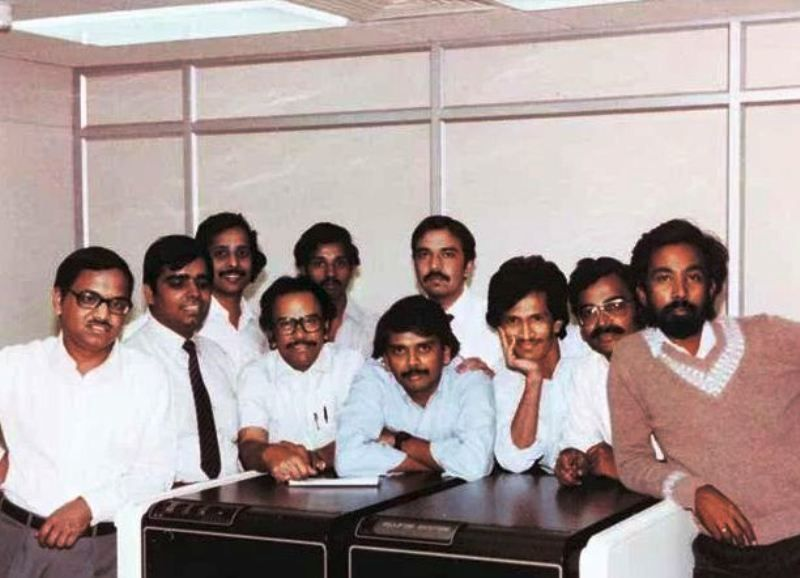 An Old Picture of N. R. Narayana Murthy with His Colleagues