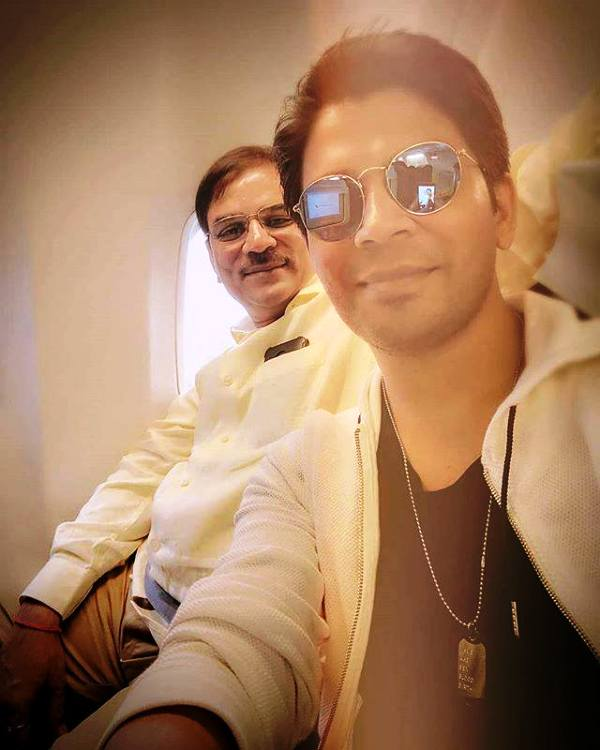 Ankit Tiwari with His Father
