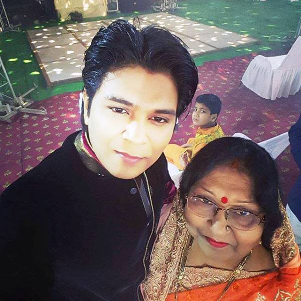 Ankit Tiwari with His Mother
