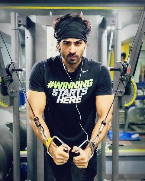 Arhaan Khan in gym