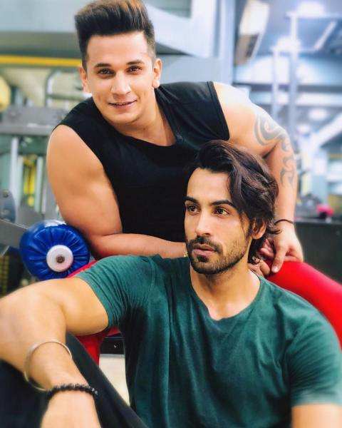 Arhaan Khan with Prince Narula