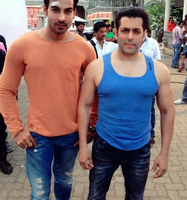 Arhaan Khan with Salman Khan