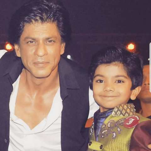 Azmat Hussain with Shah Rukh Khan