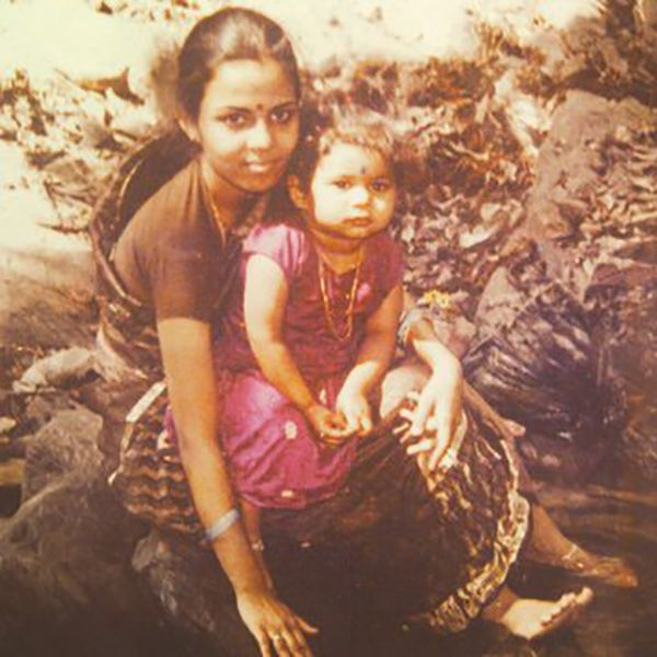 Childhood Photo of Bhuma Akhila Priya with her mother
