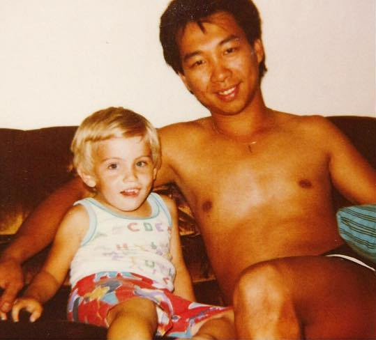 Cory Tran with his father