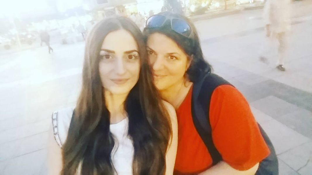 Elif Khan with her Mother