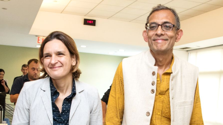 Esther Duflo with her husband Abhijit Banerjee