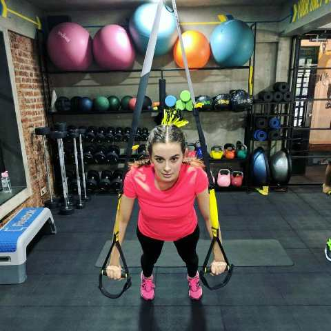 Evelyn Sharma inside the gym
