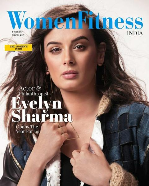 Evelyn Sharma on the cover of Women Fitness Magazine