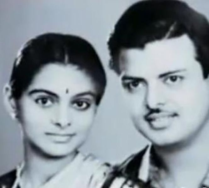 Gemini Ganesan with his wife Alamelu