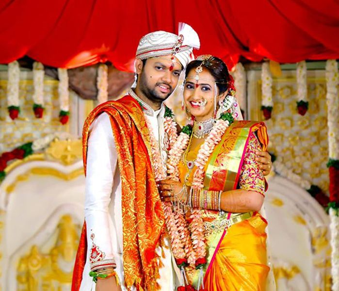 Lasya Manjunath and her husband
