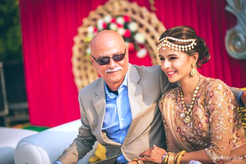 Monicka Vadera Poonawalla with Her Father